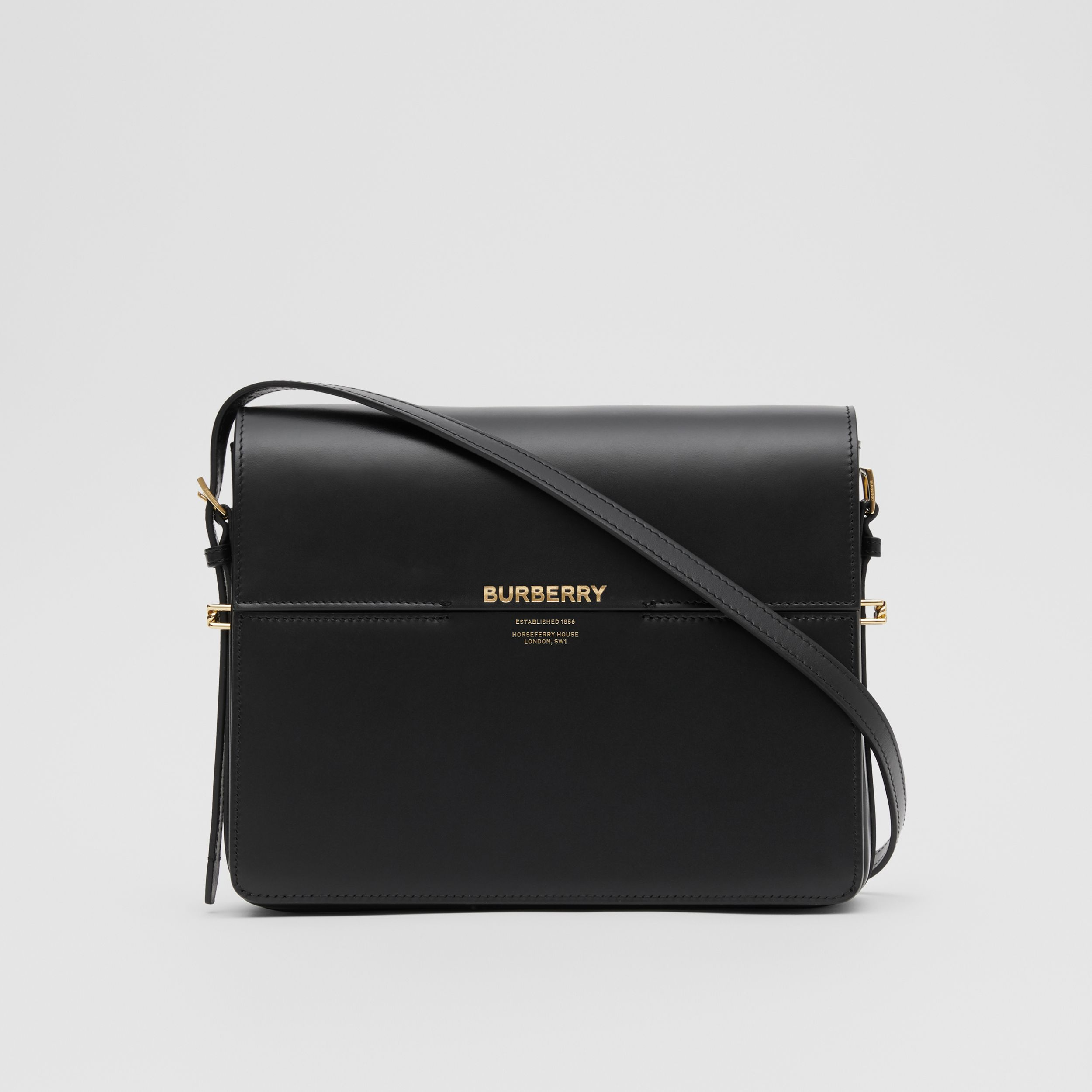 Large Leather Grace Bag in Black - Women | Burberry United Kingdom - 1