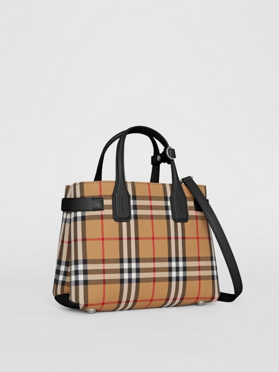 0dda692479 The Small Banner in Vintage Check and Leather in Black