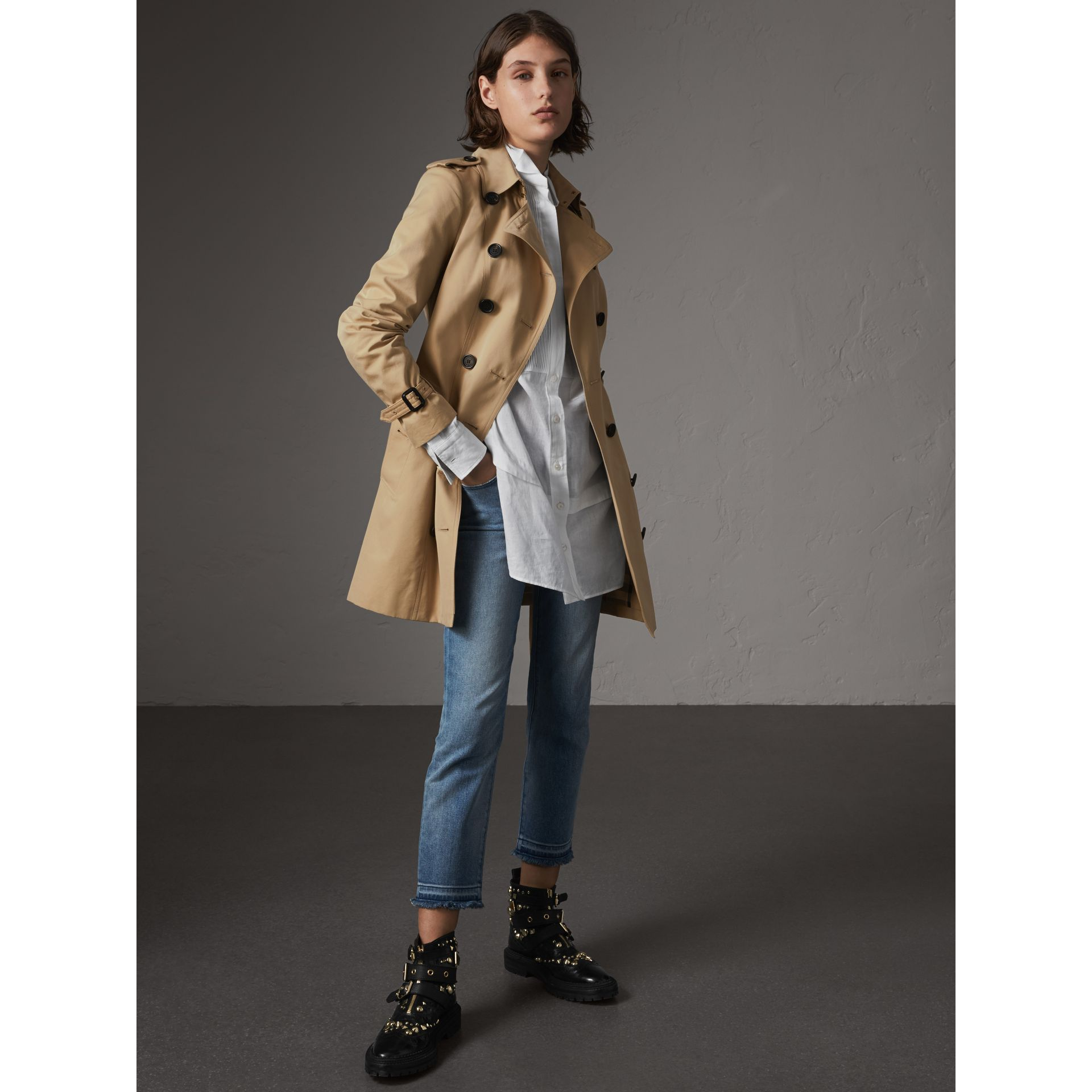 The Sandringham - Trench coat medio (Miele) - Donna | Burberry - immagine della galleria 1