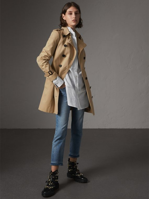 The Sandringham - Trench coat médio (Mel)