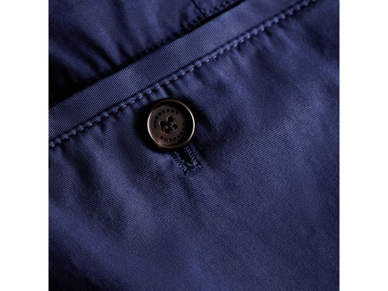 Slim Fit Stretch Cotton Chinos in Bright Navy - Men | Burberry Australia - cell image 1