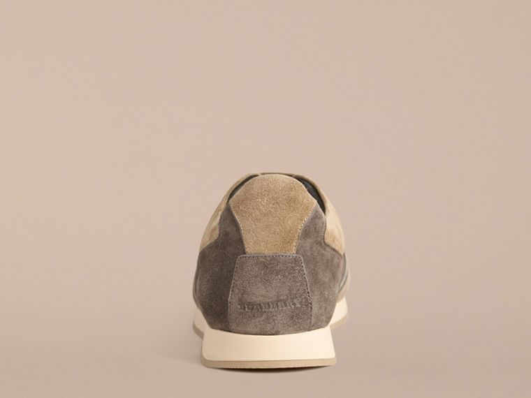 Greystone The Field Sneaker in Colour Block Suede and Mesh Greystone - cell image 1