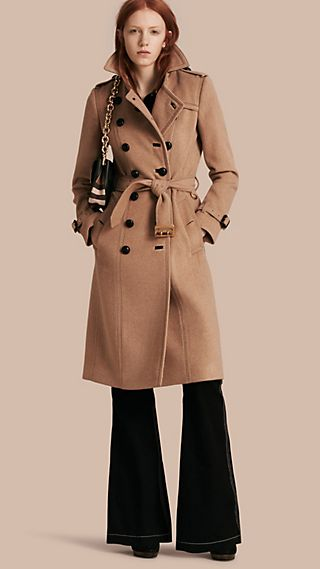 Slim Fit Wool Cashmere Trench Coat