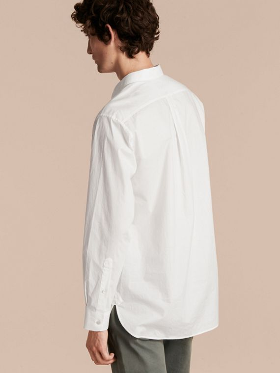 Cotton Poplin Tunic Shirt - cell image 2