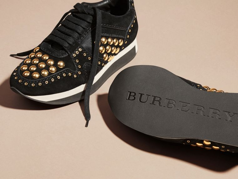 Black The Field Sneaker in Studded Suede Black - cell image 4