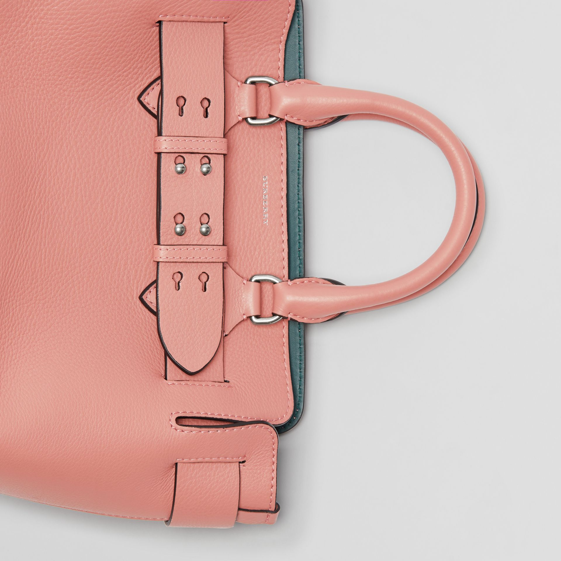 The Small Leather Belt Bag in Dusty Rose - Women | Burberry United Kingdom - gallery image 1