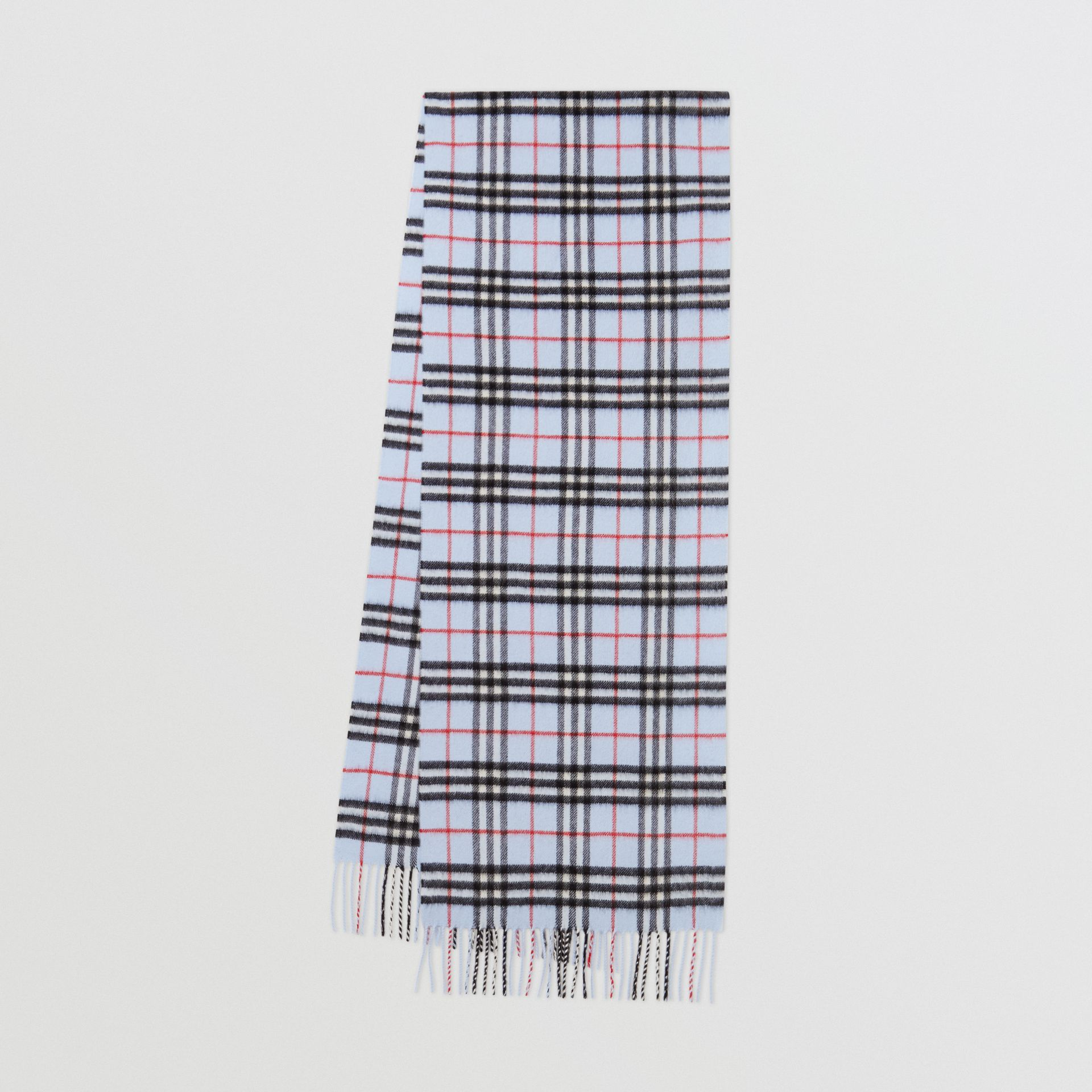 The Classic Vintage Check Cashmere Scarf in Pale Blue | Burberry United Kingdom - gallery image 0
