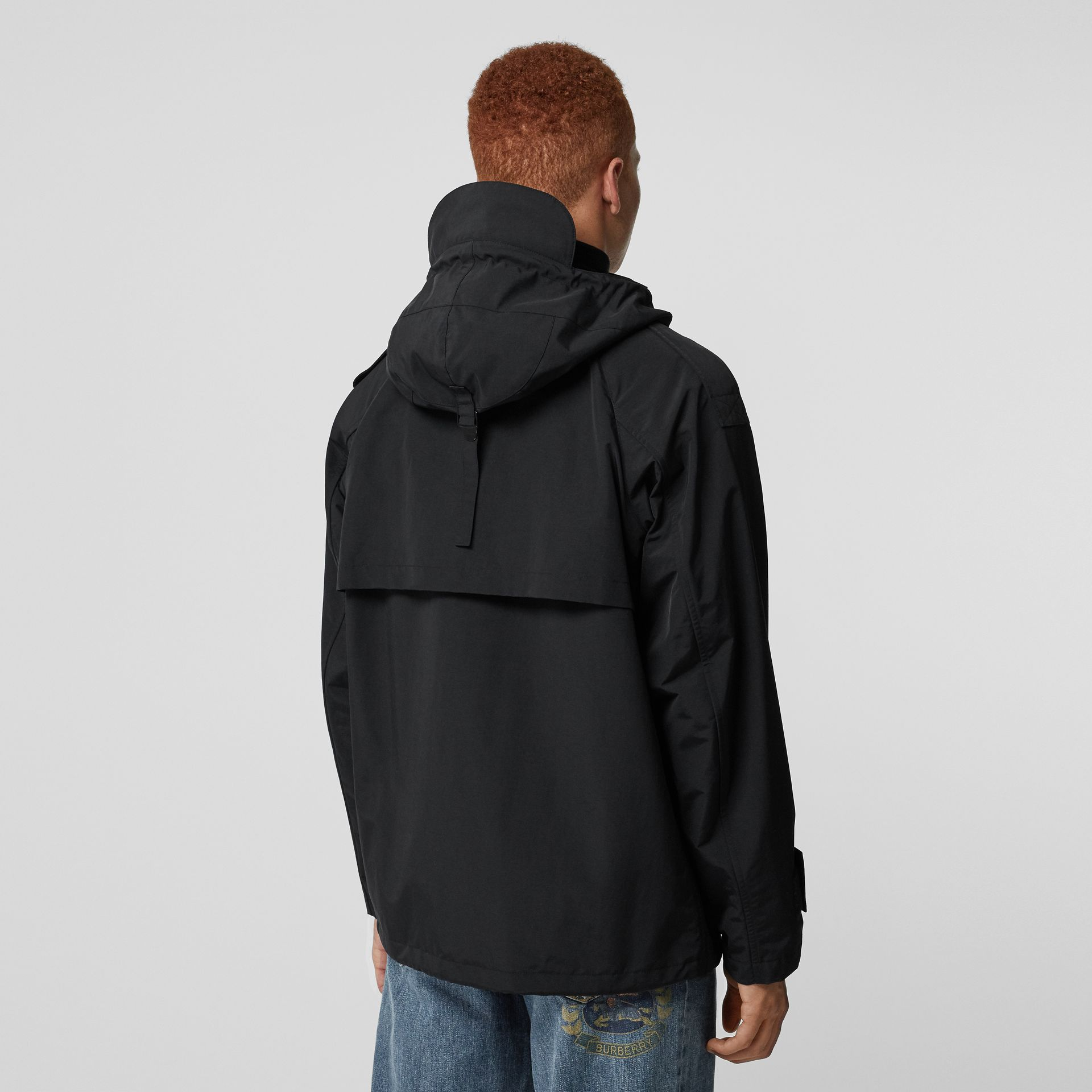 Bungee Cord Detail Hooded Parka in Black - Men | Burberry - gallery image 2