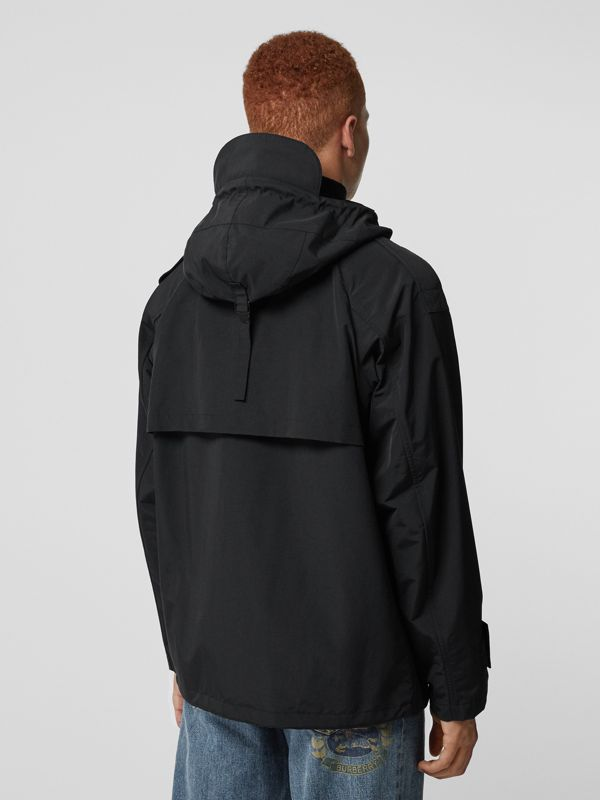 Bungee Cord Detail Hooded Parka in Black - Men | Burberry Canada - cell image 2