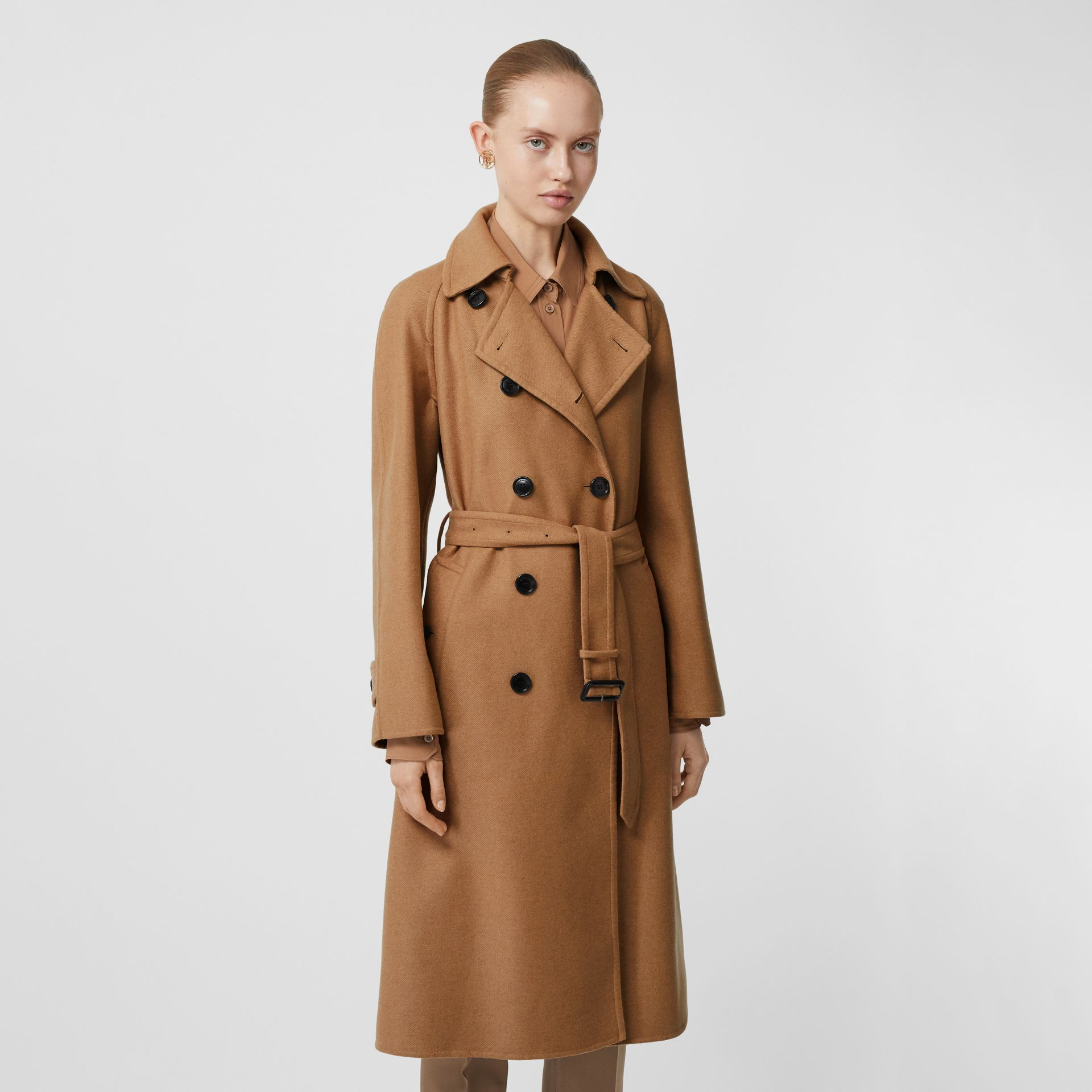 Cashmere Trench Coat in Bronze - Women | Burberry Singapore - gallery image 6