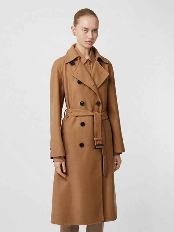 Cashmere Trench Coat in Bronze