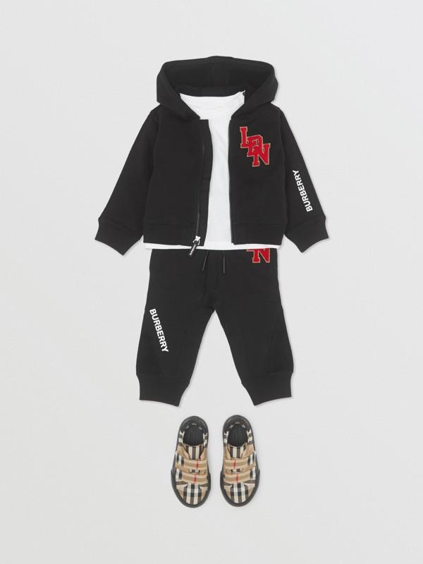 Pantalon de survêtement en coton à logo (Noir) - Enfant | Burberry - cell image 2