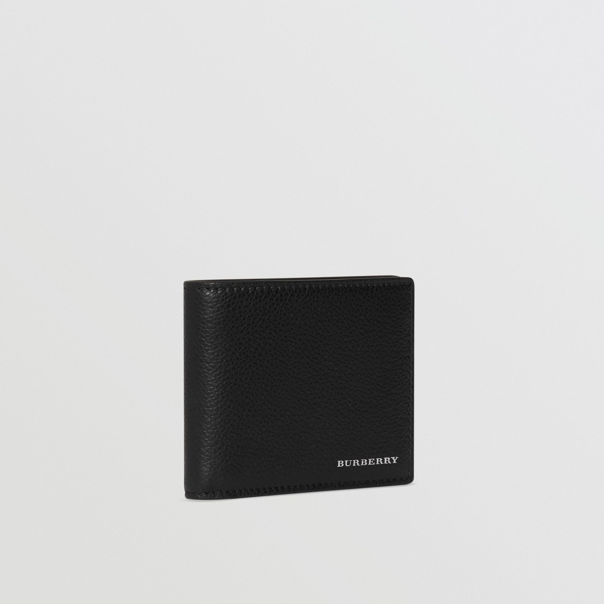 Grainy Leather Bifold Wallet in Black - Men | Burberry United Kingdom - gallery image 4