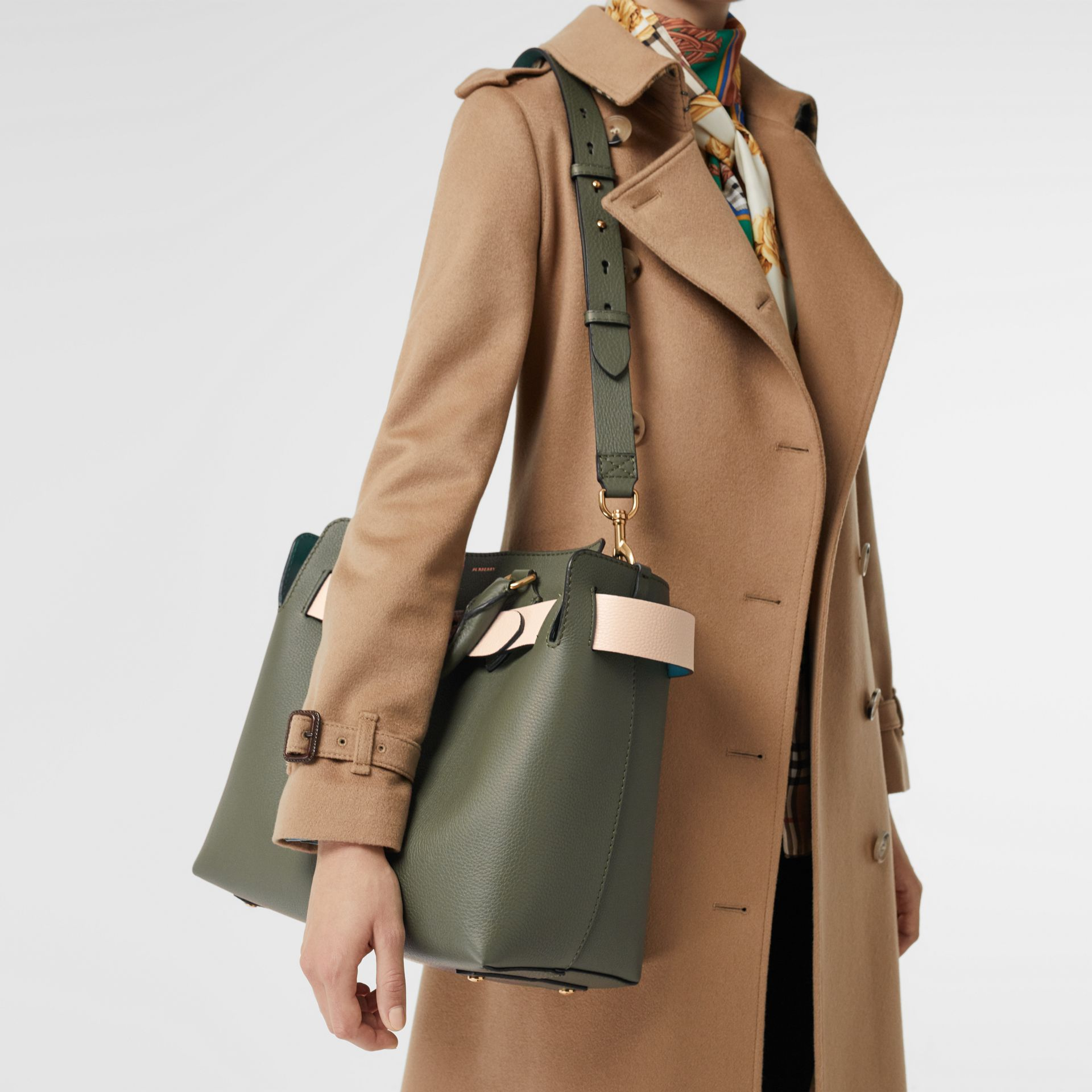 The Medium Leather Belt Bag in Sage Green - Women | Burberry United Kingdom - gallery image 3
