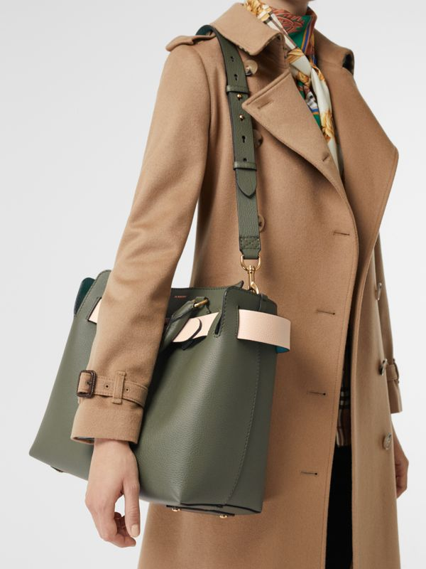 The Medium Leather Belt Bag in Sage Green - Women | Burberry United Kingdom - cell image 3