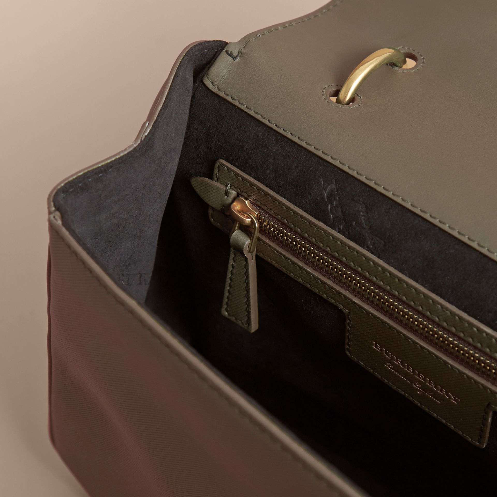 The Medium DK88 Top Handle Bag in Moss Green - Women | Burberry - gallery image 6