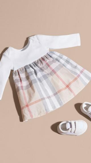 Cotton Check Dress