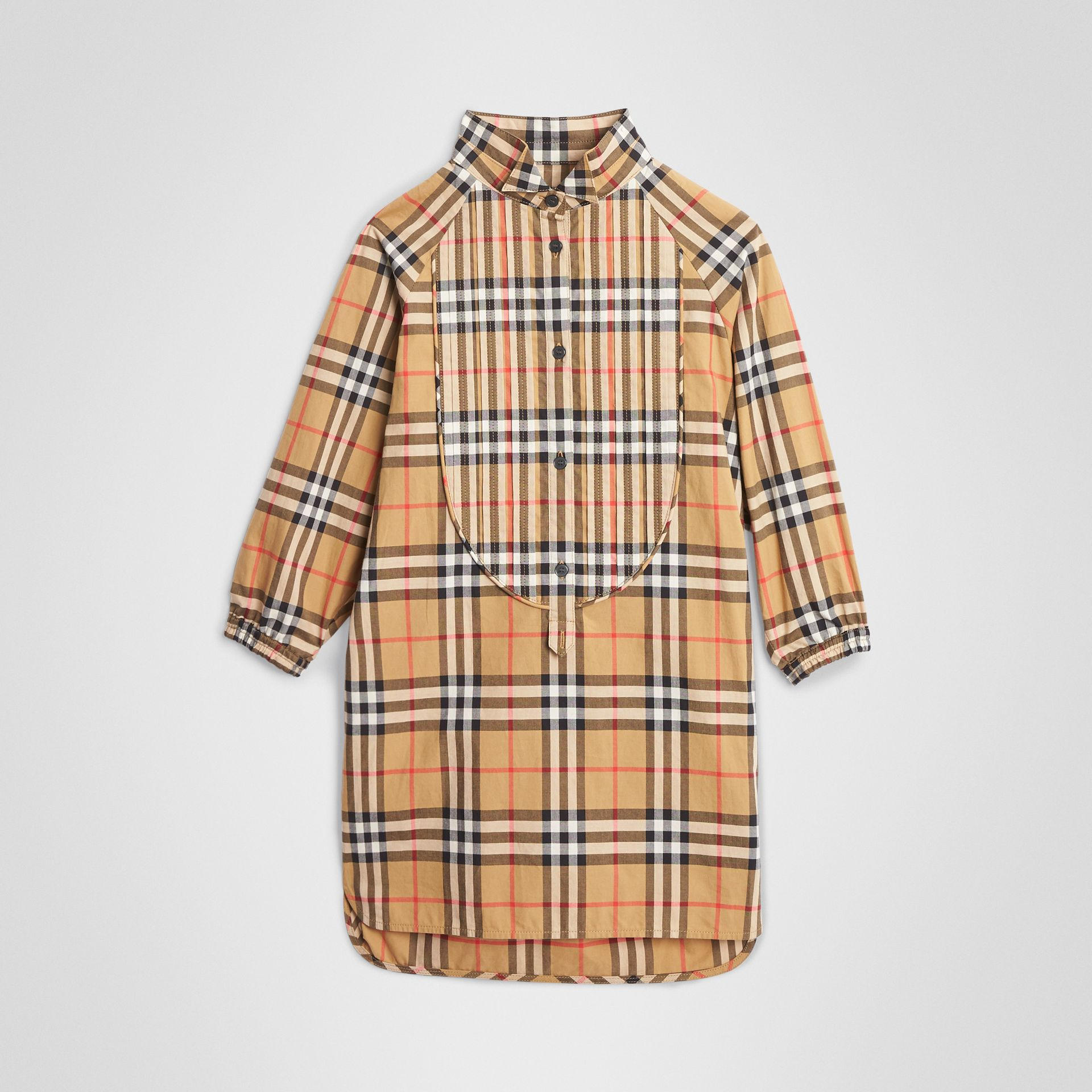 Vintage Check Cotton Shirt Dress in Antique Yellow | Burberry United States - gallery image 0