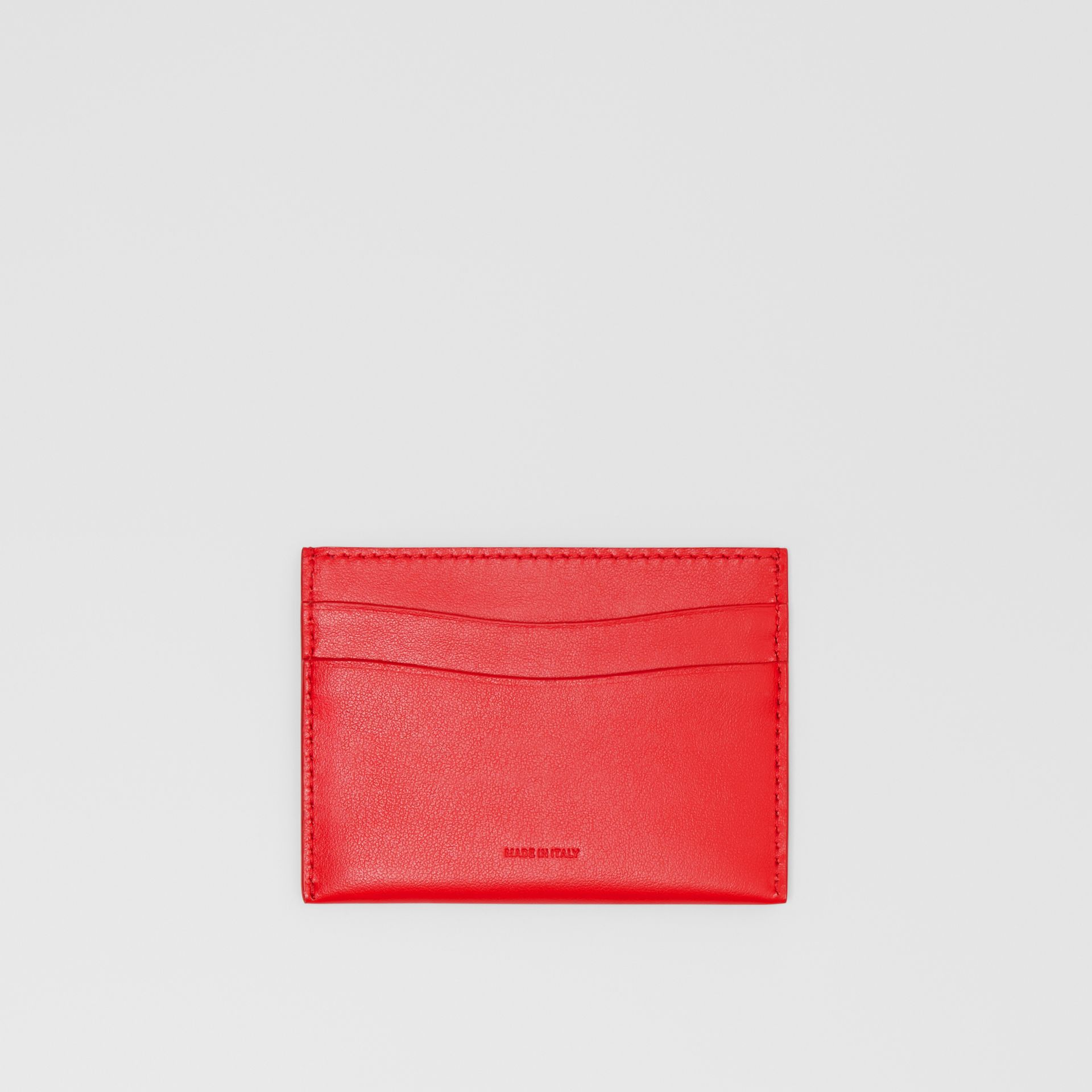 Quote Print Leather Card Case in Bright Military Red - Women | Burberry United Kingdom - gallery image 0