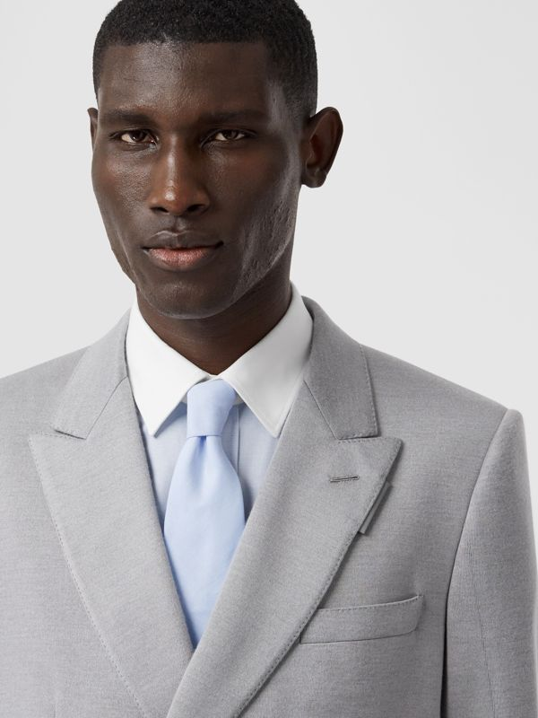 Classic Cut Cotton Tie in Pale Blue | Burberry - cell image 2