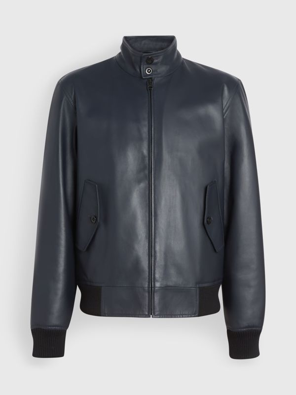 Lambskin Harrington Jacket in Navy - Men | Burberry - cell image 3