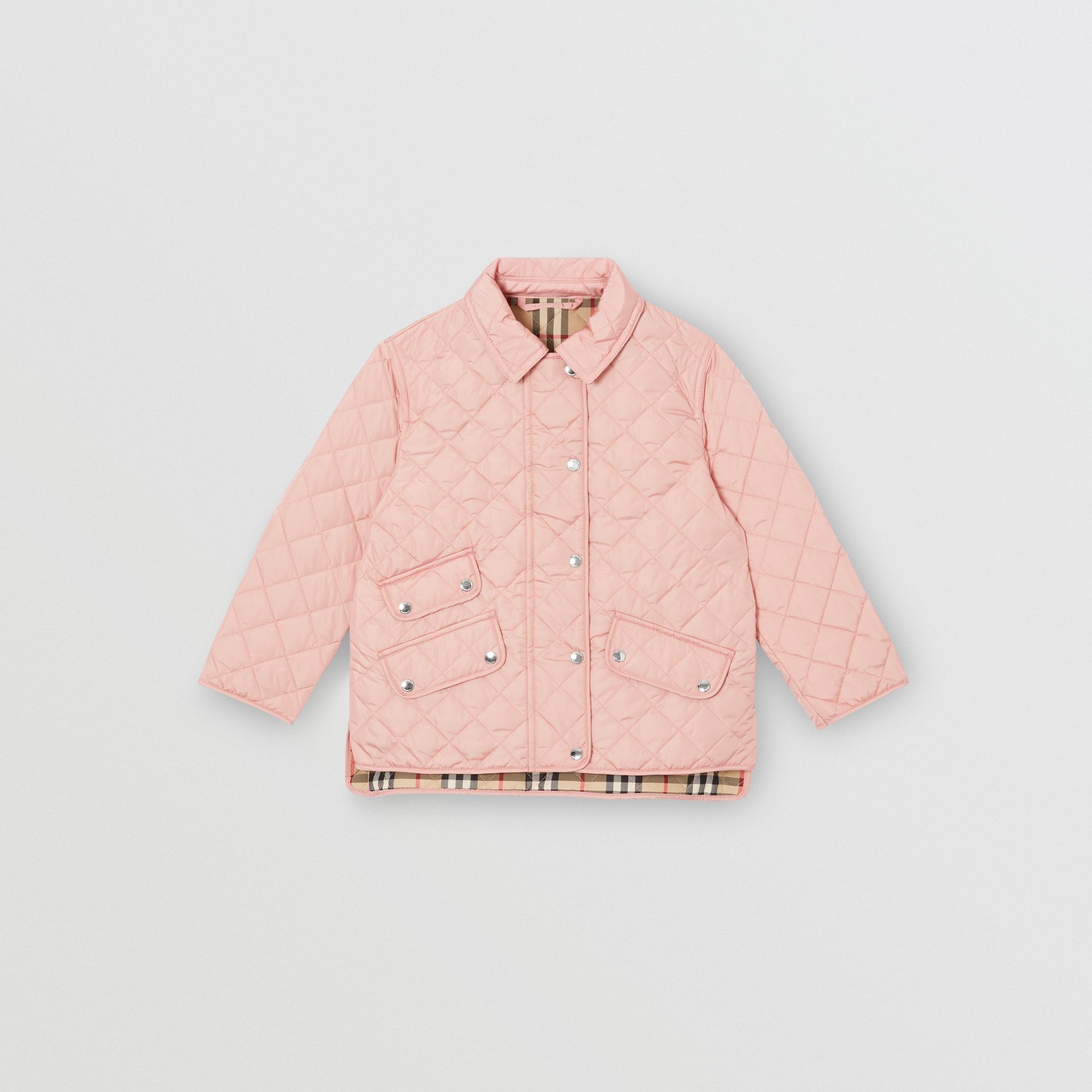 Lightweight Diamond Quilted Jacket in Dusty Pink | Burberry - gallery image 0