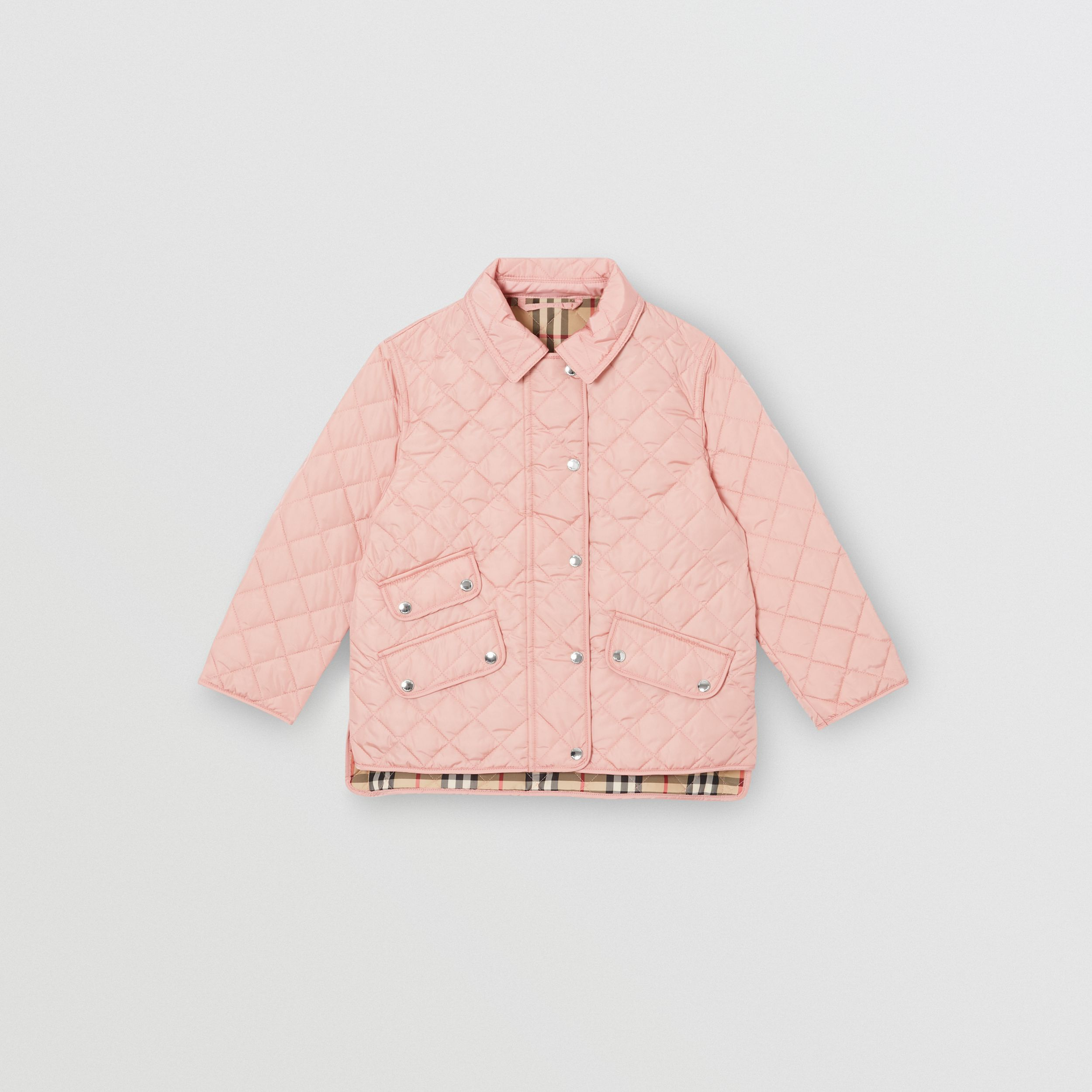 Lightweight Diamond Quilted Jacket in Dusty Pink | Burberry - 1
