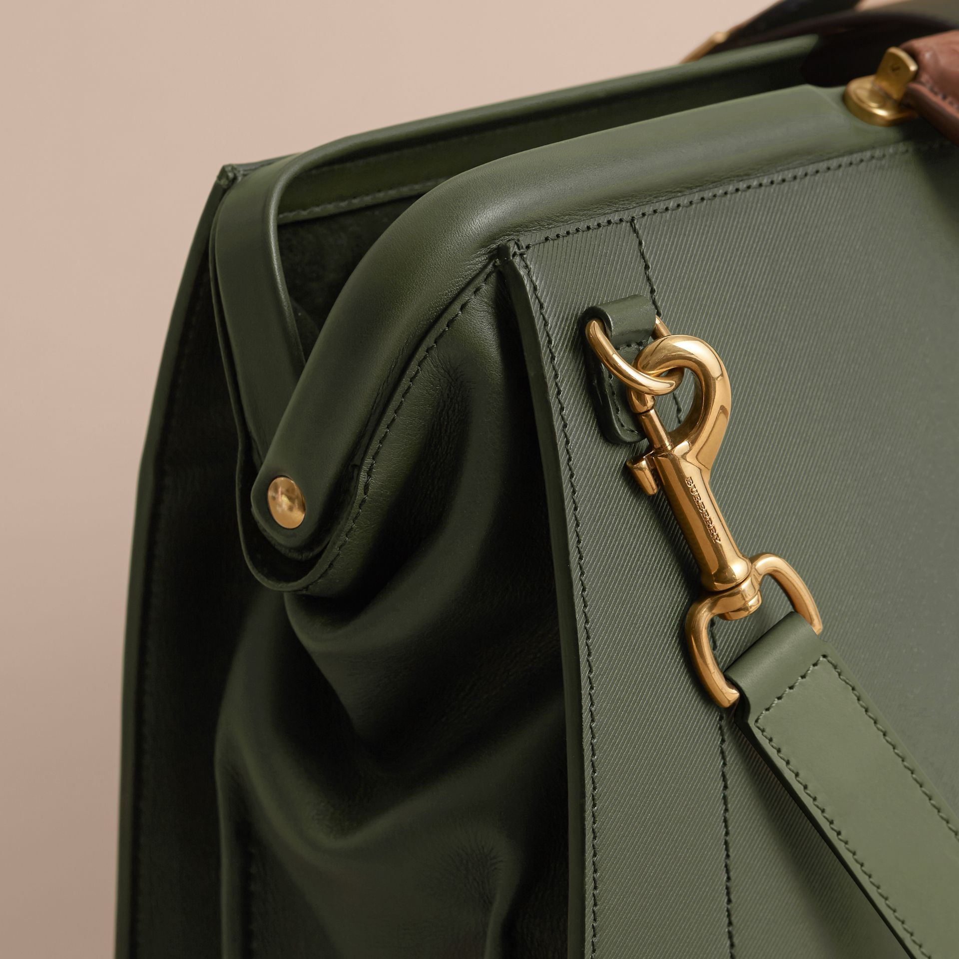 The DK88 Doctor's Bag with Alligator in Dark Forest Green - Men | Burberry United Kingdom - gallery image 5