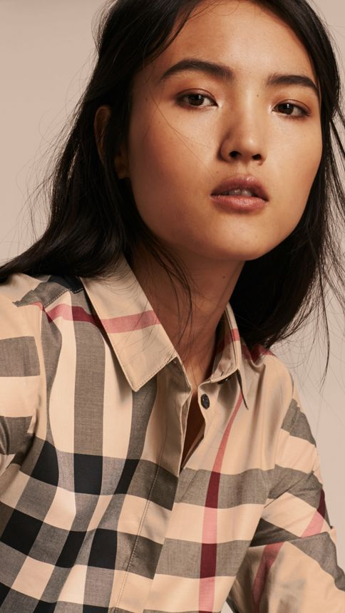 New classic check Stretch-Cotton Check Shirt - Image 5