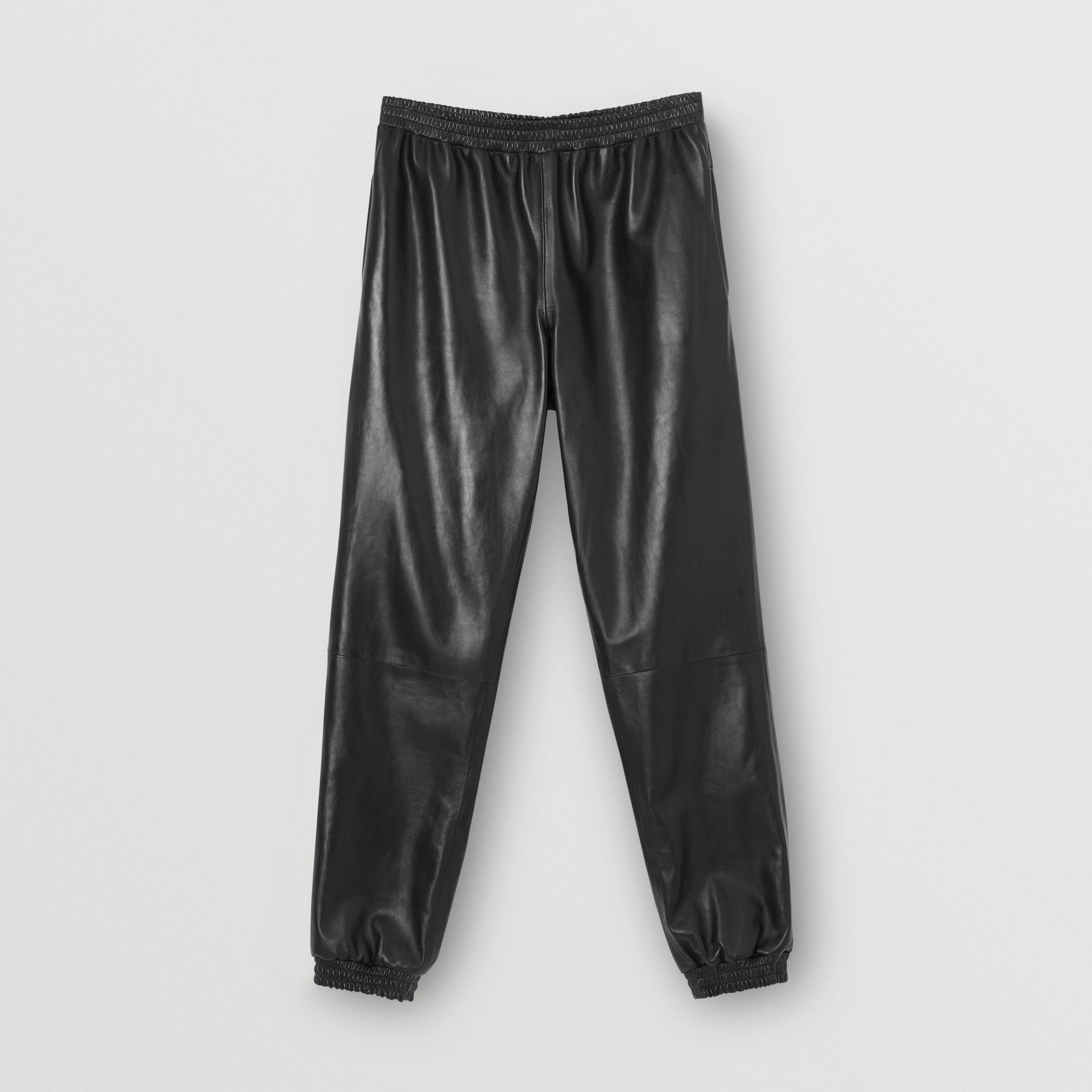 Plonge Lambskin Trackpants in Black - Men | Burberry - gallery image 3