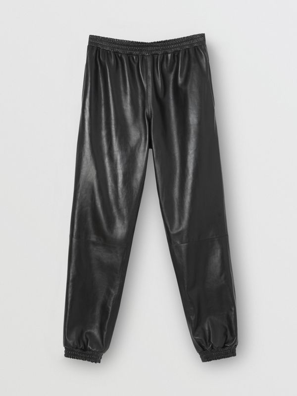 Plonge Lambskin Trackpants in Black - Men | Burberry United Kingdom - cell image 3