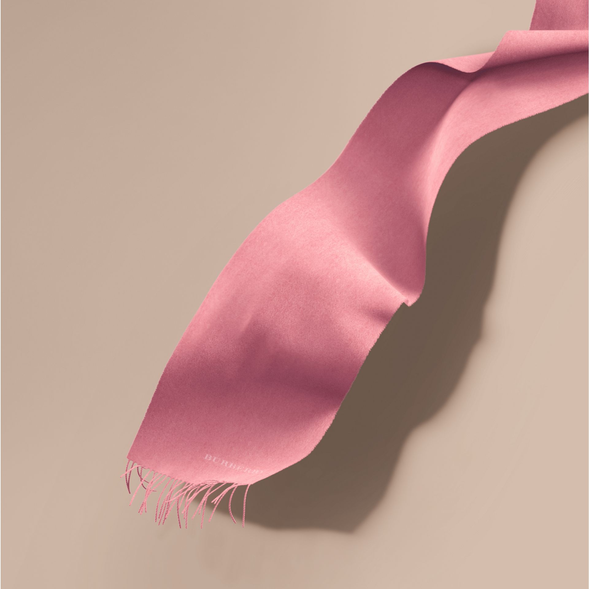 The Classic Cashmere Scarf Rose Pink - gallery image 1