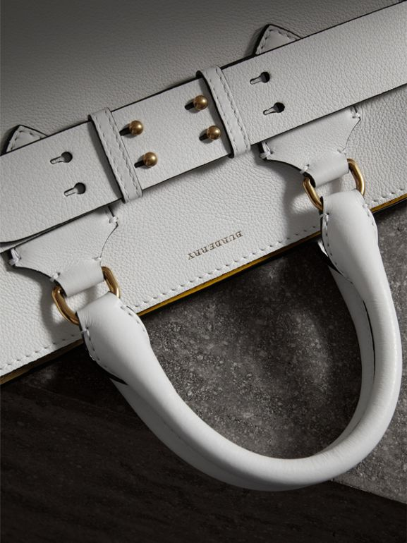 The Medium Leather Belt Bag in Chalk White - Women | Burberry - cell image 1