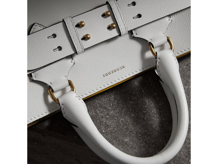 The Medium Leather Belt Bag in Chalk White - Women | Burberry United States - cell image 1