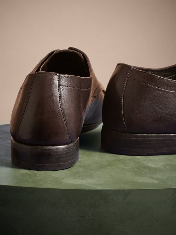 Ebony Washed Leather Derby Shoes - cell image 3