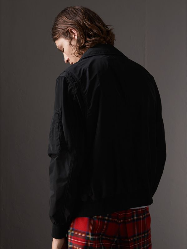 Showerproof Bomber Jacket in Black - Men | Burberry - cell image 2