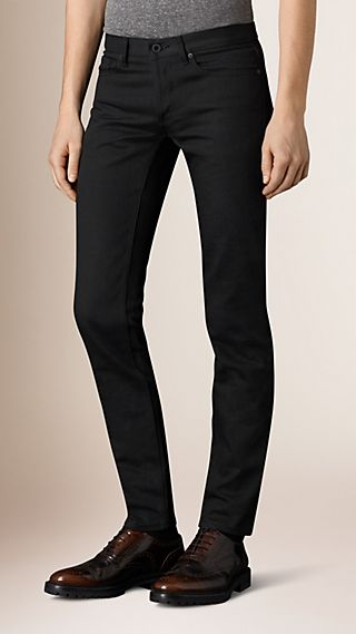 Skinny Fit Black Selvedge Jeans