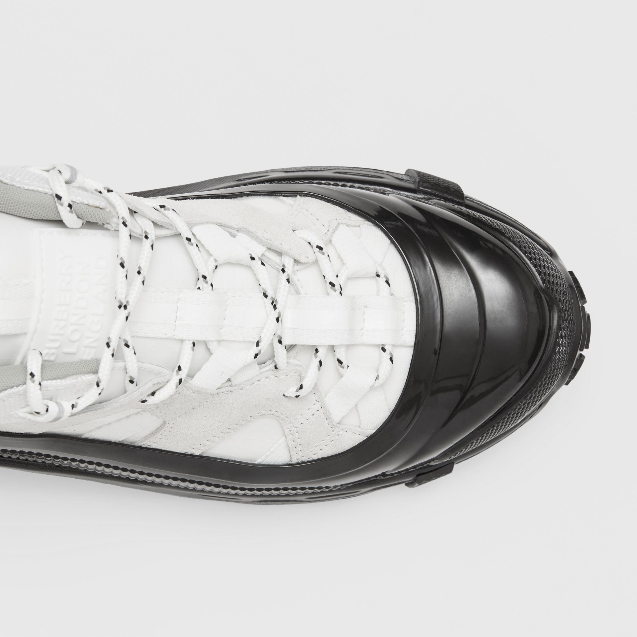 Nylon and Suede Arthur Sneakers in White - Women | Burberry Singapore - 2