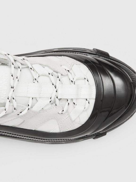Nylon and Suede Arthur Sneakers in White - Women | Burberry - cell image 1