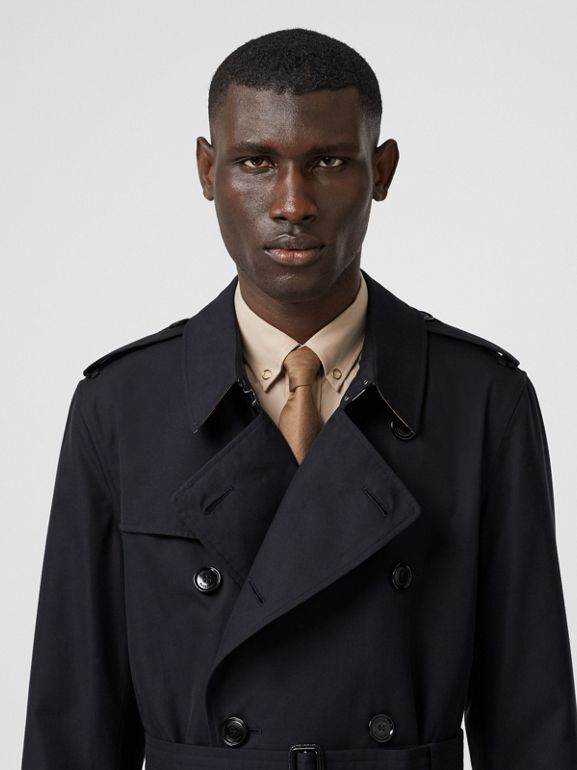 Cotton Gabardine Trench Coat in Midnight - Men | Burberry - cell image 1