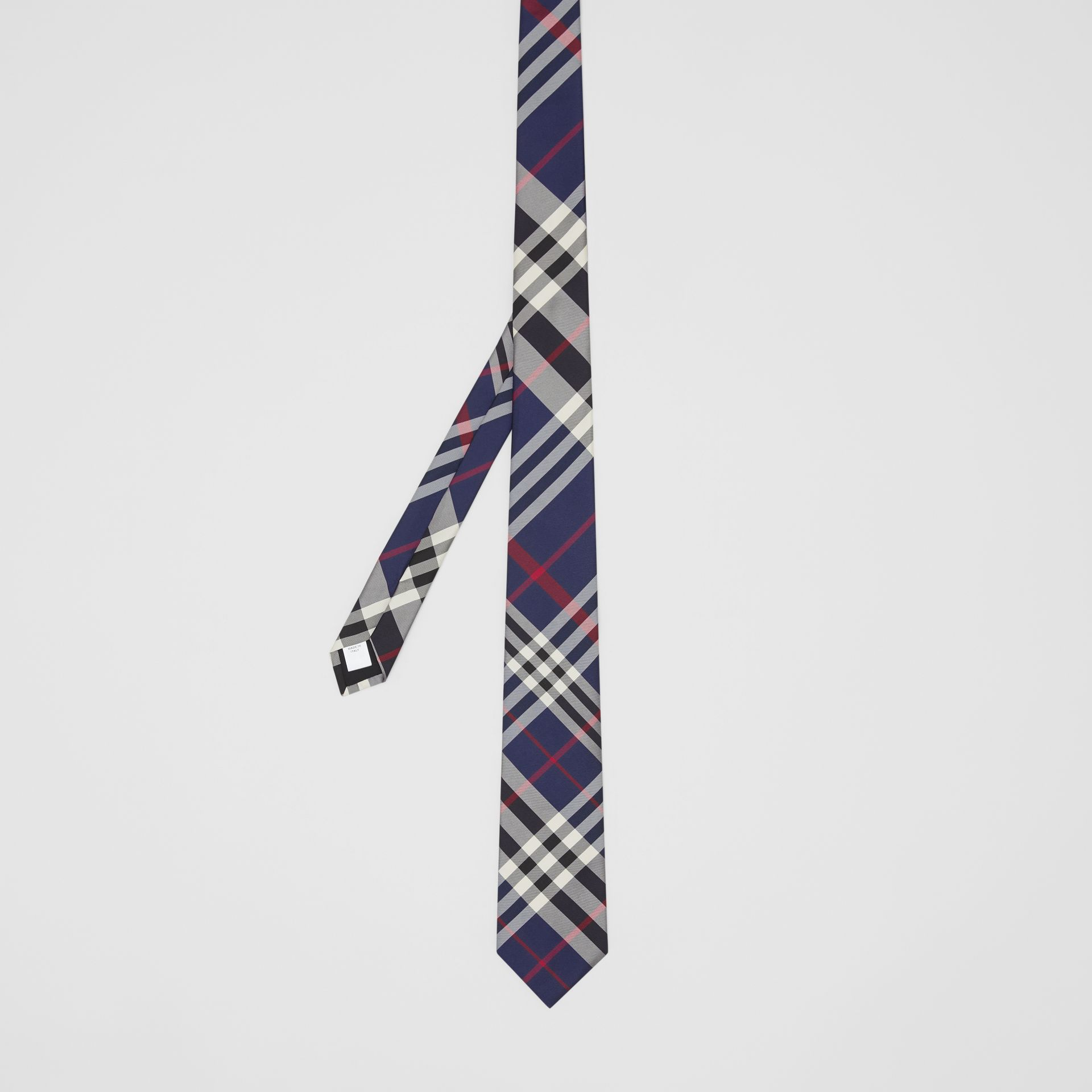 Classic Cut Check Silk Tie in Navy - Men | Burberry Hong Kong S.A.R - gallery image 4