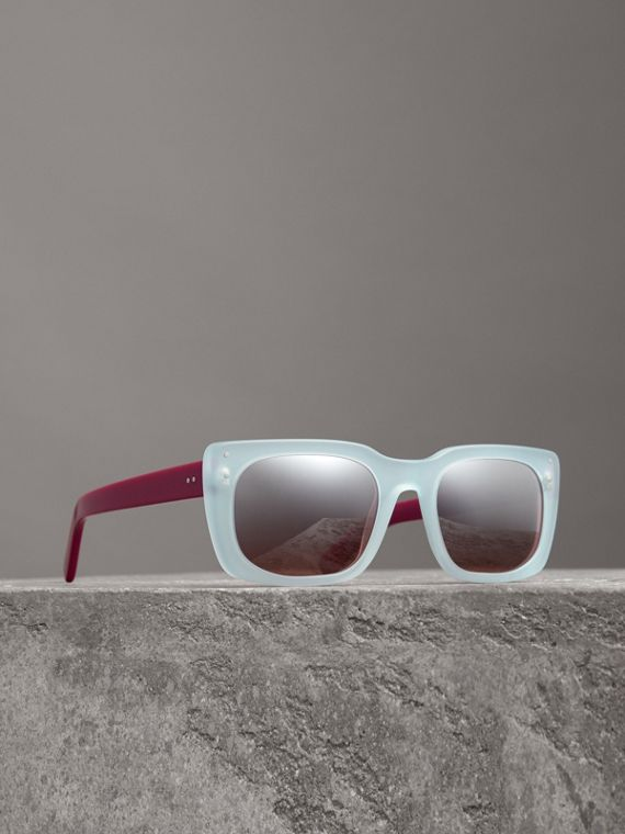 Square Frame Sunglasses in Blue