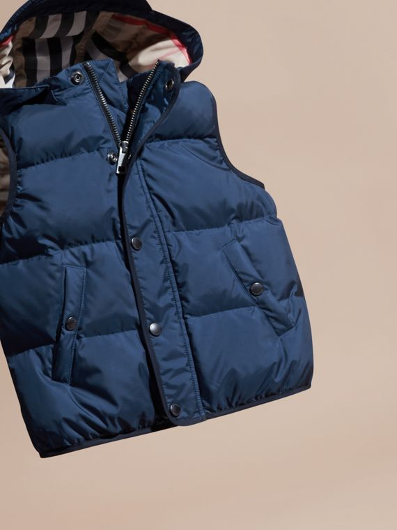 Down-filled Hooded Gilet in Ink Blue - Boy | Burberry - cell image 2