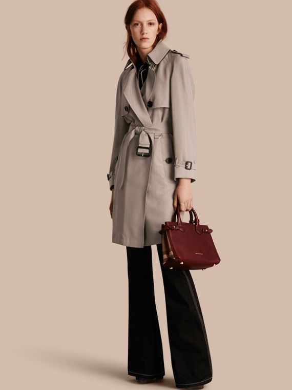 Oversize Detail Silk Trench Coat Pale Taupe