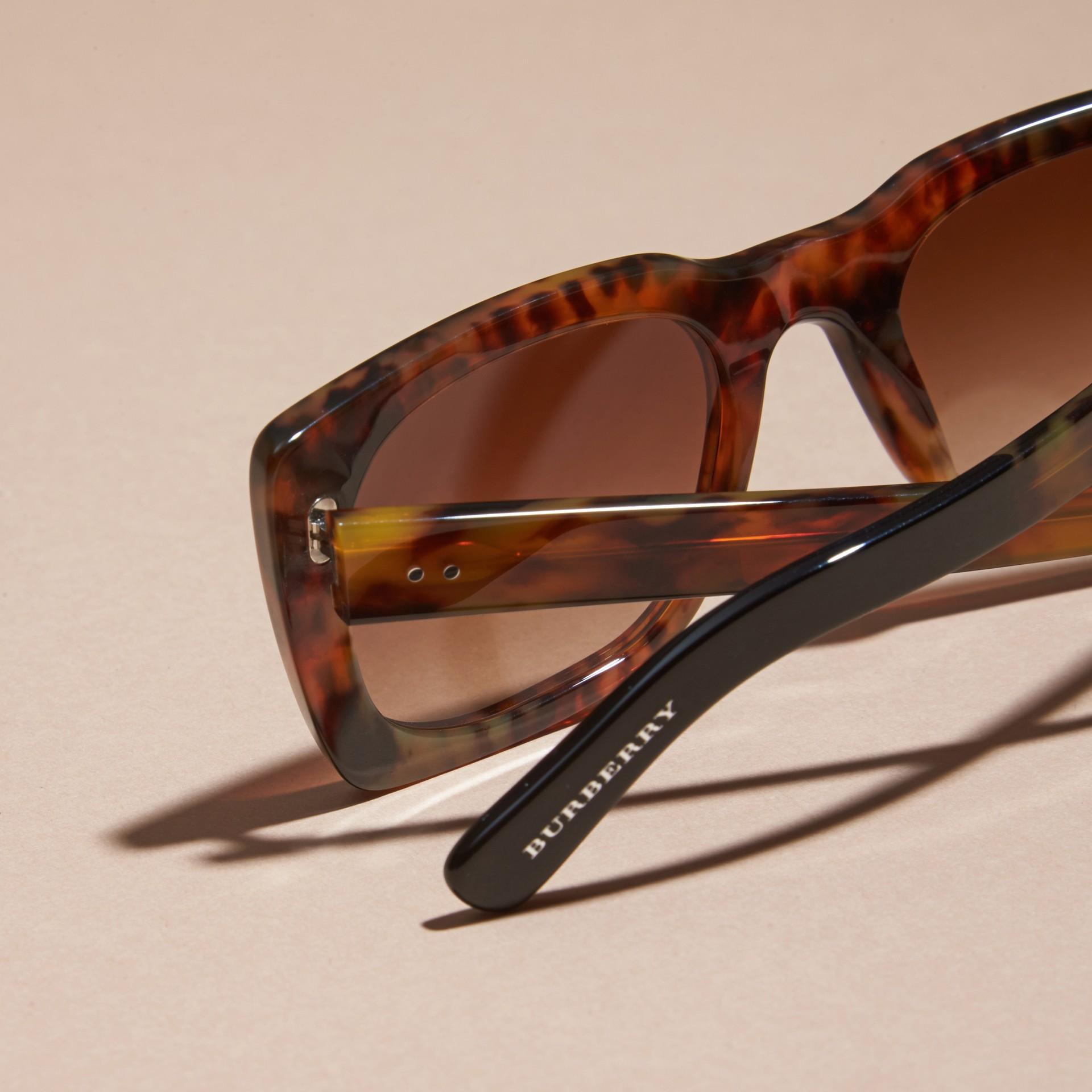 Tortoise shell Square Frame Sunglasses Tortoise Shell - gallery image 4