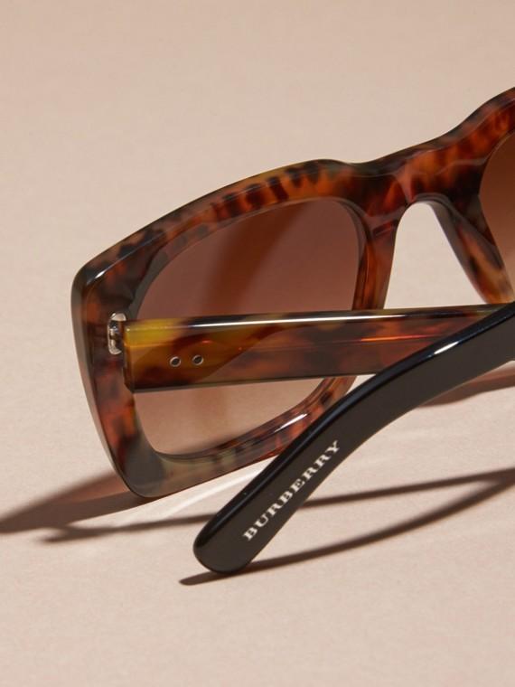 Tortoise shell Square Frame Sunglasses Tortoise Shell - cell image 3