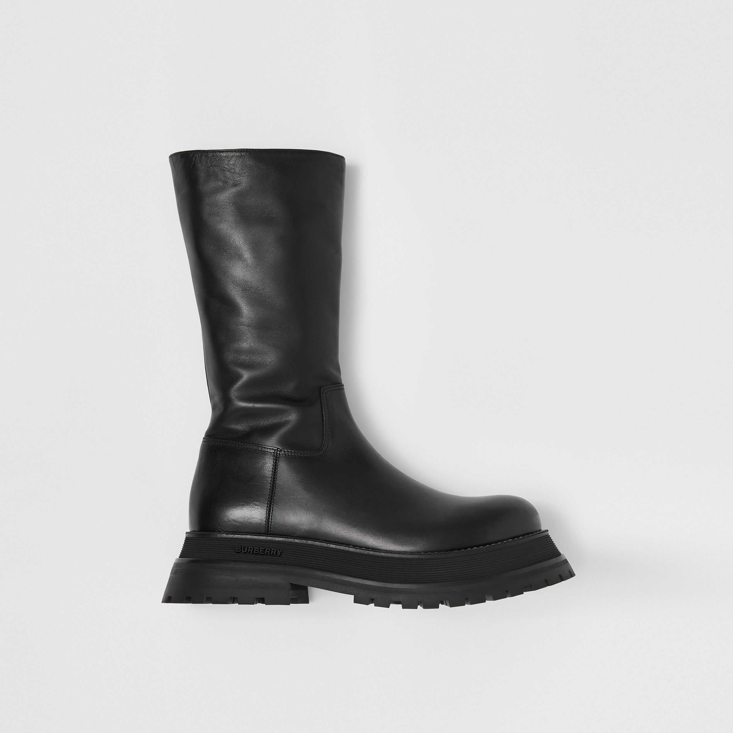 Leather and Lambskin Boots in Black - Women | Burberry Hong Kong S.A.R. - 1
