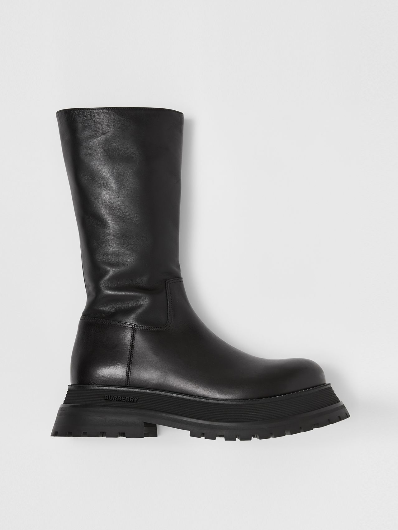 Leather and Lambskin Boots in Black