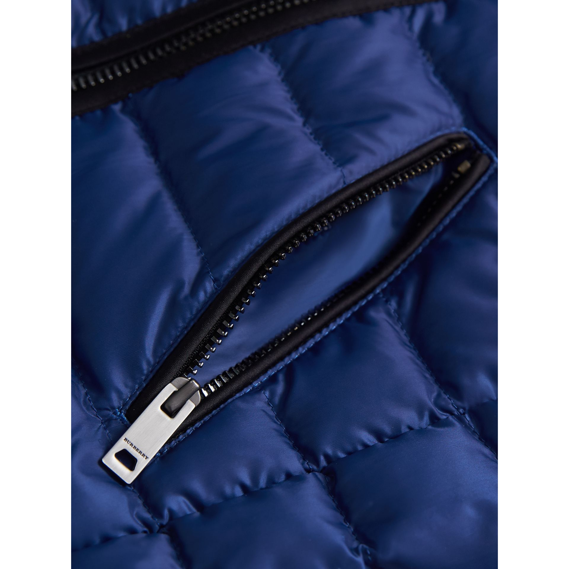 Quilted Down-filled Coat in Dark Cobalt - Girl | Burberry United Kingdom - gallery image 2