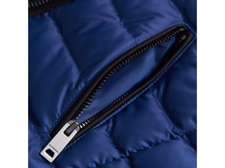 Quilted Down-filled Coat in Dark Cobalt - Girl | Burberry - cell image 1